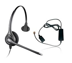 Plantronics Headsets for Polycom  plantronics supra plus hw251n with a10 cable