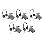 Plantronics EncorePro HW520 with M22 (5-Pack) Binaural Noise-Cancellin