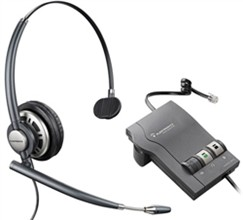 Plantronics Corded Headsets plantronics encoreprohw291n mono with m22