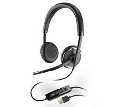 Plantronics Stereo Corded Headsets  plantronics blackwire c520