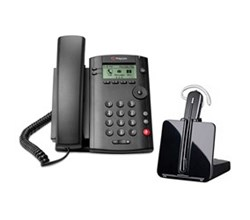 Bundles with CS540 polycom vvx 101 with plantronics cs540