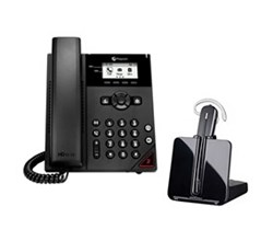 Bundles with CS540 polycom vvx 150 with plantronics cs540