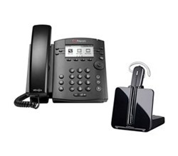 Bundles with CS540 polycom vvx 301 with plantronics cs540