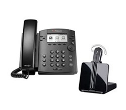Bundles with CS540 polycom vvx 311 with plantronics cs540