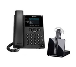 Bundles with CS540 polycom vvx 350 with plantronics cs540