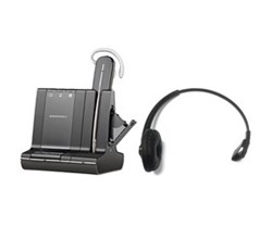 Plantronics Reconditioned Savi Series Wireless Headset plantronics savi w745 with headband 84605 01