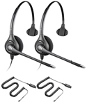 Plantronics SupraPlus HW251N + A10-16-2 SupraPlus Headset with RJ-9 Co