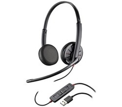 Plantronics Stereo Corded Headsets  plantronics blackwirec325 m